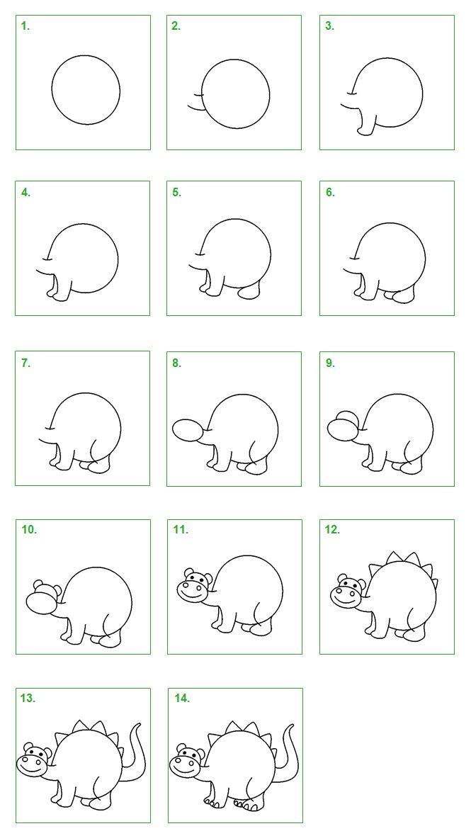Schoolwiz - Hoe teken je een dinosaurus (2)