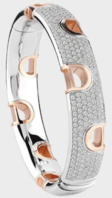 Damiani- D. I con -web-May.2013,WHITE/PINK GOLD AND DIAMOND (2.00 ct.) BRACELET