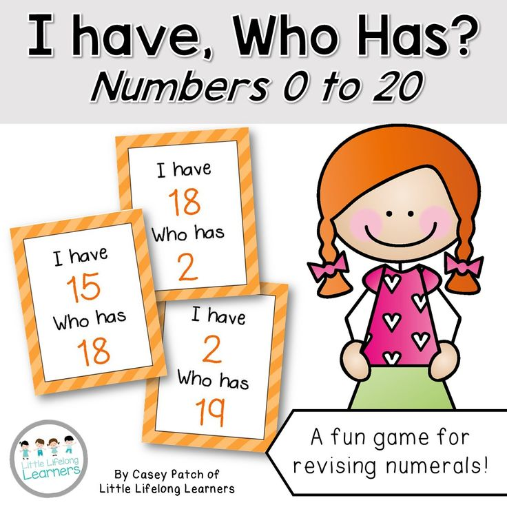 FREE!! I have, who has? Math game for revising numbers to 20. Revise numerals from 0 to 20 with this fun numeracy card game! Use it as a fast finishers activity or as part of your math rotations!   Little Lifelong Learners
