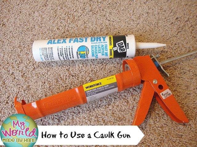 how to use a caulk gun hmmm i never knew that pinterest guns. Black Bedroom Furniture Sets. Home Design Ideas