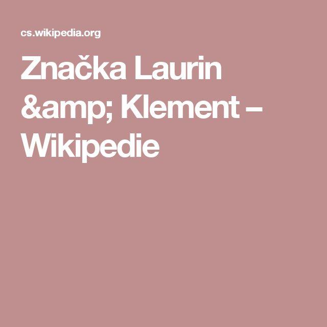 Značka Laurin & Klement – Wikipedie