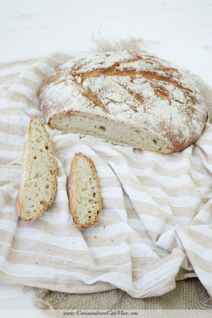 Receta de pan con masa madre de yogur. #compartemesa con 7.000 millones de personas | CocinandoconCatMan.com