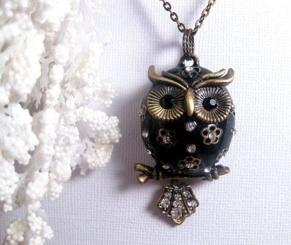 Adorable Owl Neckalce!!  Jolly Pudgy Chubby Owl Necklace  Perched On by FashionCrashJewelry, $24.00