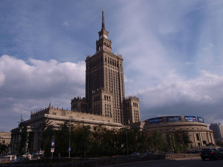 """The Palace of Culture was a building """"donated"""" by the Russians to Poland and is still one of the most iconic buildings in Warsaw.  Kindly shared under a creative commons licence by Tomislav Medak"""