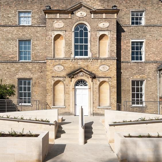 Making a virtue out of a necessity: the pukka disabled access ramps we designed for the historic entrance to St Hilda's College Oxford. Adrian James Architects. #TBT #ThrowbackThursday #Architecture #Design #Oxford #StHildas