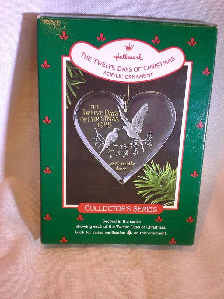 "1985 Hallmark Ornament 12 Days of Christmas ""Two Turtle Doves NIB Free Shipping"