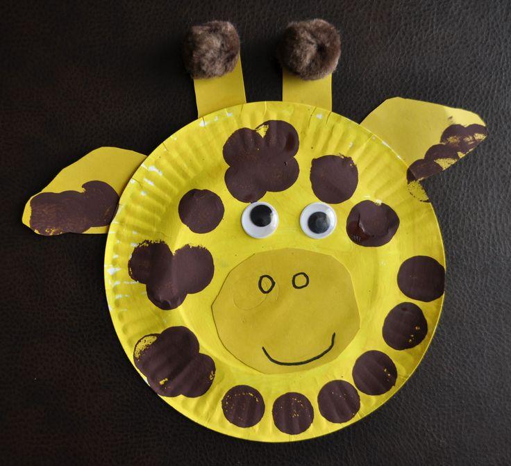 Paper Plate Giraffe and storybook