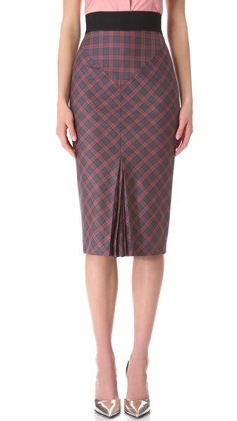 LWren Scott Plaid Pencil Skirt...I like the cut