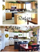 Kitchen Make Over - step by step for redoing cabinets