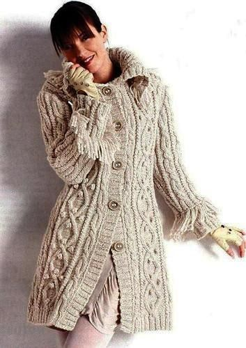 Womens Hand Knit Wool Coat.30F