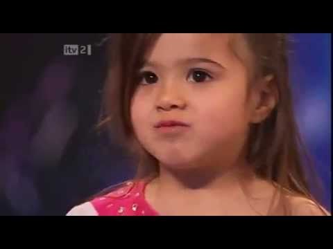 Shakira Little:   Audition for Britain's Got Talent  Note: She's WAY adorable but I think the dance is rather ridiculous & suggestive for a 4 year old!