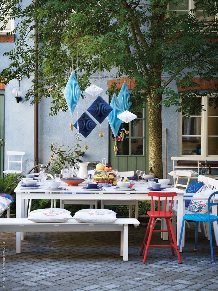 Celebrate in style! IKEA has a large variety of outdoor furniture and accessories to suit all of your summer needs.
