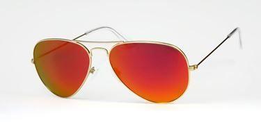 Gafas de Sol #HUGO CONTI  6603 /DORADAS/ NARANAJA FLASH   Las Hugo Conti 6603 recuerdan a las gafas de sol aviador clásicas pero con un toque feroz y atrevido, gracias a sus lentes en espejo azul polarizadas. ¡Olvídate de los reflejos!
