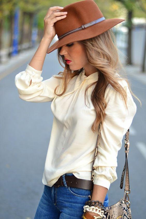 Image result for sombreros de moda octubre 2016