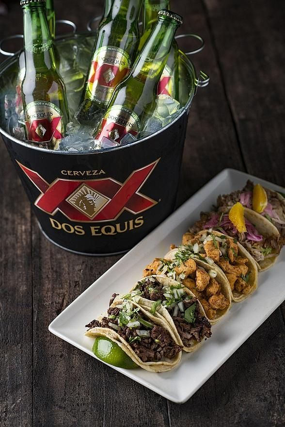 "Tacos & Tequila at Luxor Hotel and Casino Announces Food and Drink Specials for Spring Break, NASCAR and College Basketball Playoffs (Pictured: Tacos & Tequila ""Seis y Seis"" Special – Photo credit: Peter Harasty)."