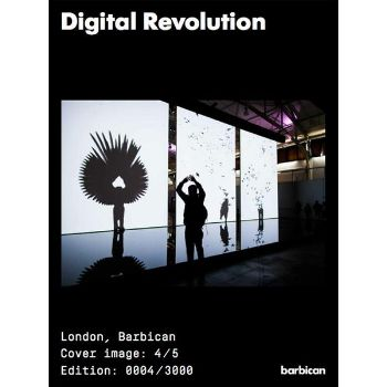 Barbican Shop Digital Revolution Catalogue: This illustrated exhibition catalogue features essays by leading authors in the digital field and was published to commemorate the Digital Revolution exhibition at the Barbican in 2014. Designed by Praline, the catalogue aims to reflect the interactive and revolutionary nature of the exhibition. There are five different cover options by artists featured in the exhibition and every copy is unique - the edition number out of the 3000 print run is…