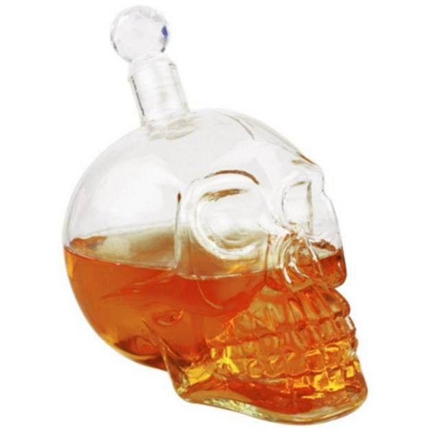 Skull shaped 1 liter Alcohol bottle