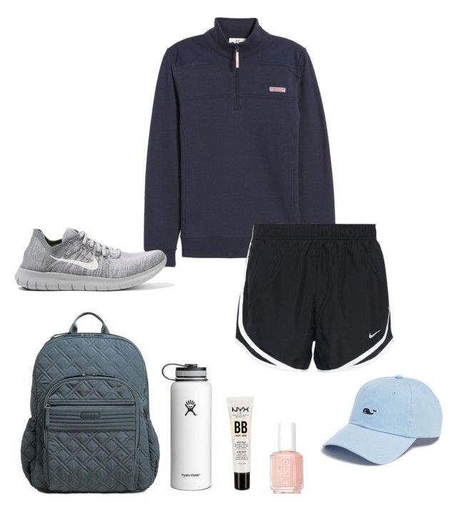 """""""summer camp"""" by sonyahills on Polyvore featuring Vera Bradley, NYX, Vineyard Vines, NIKE and Essie"""