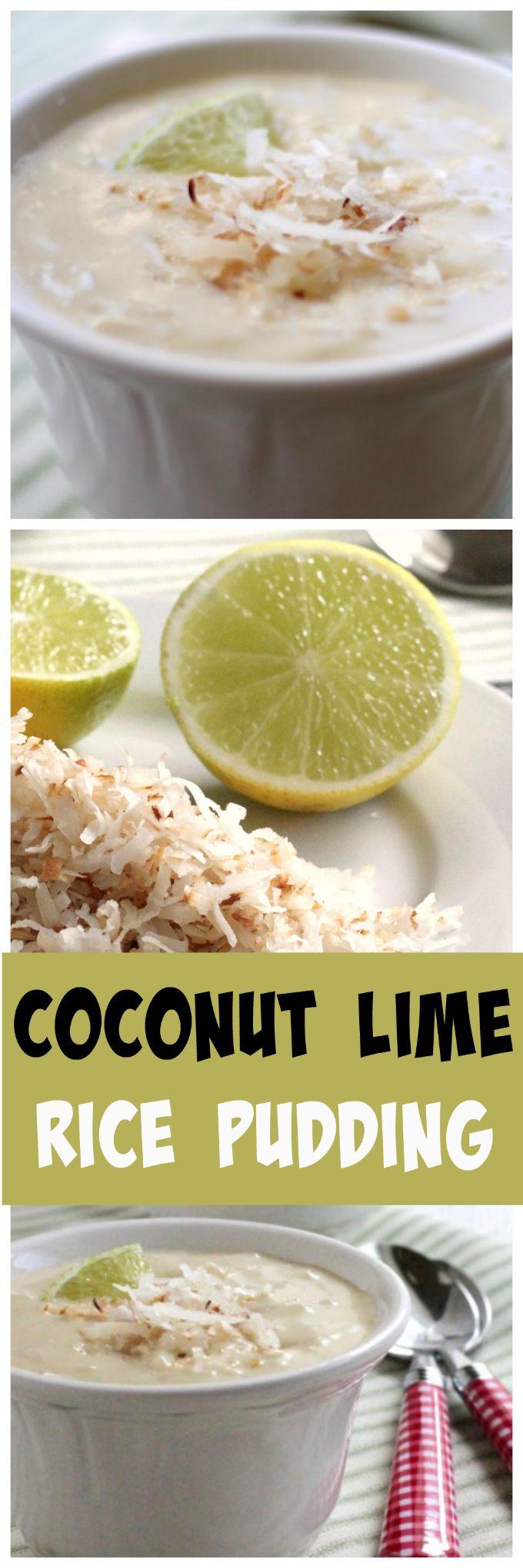 coconut lime rice pudding @createdbydiane
