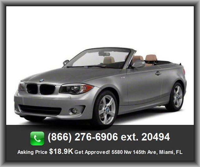 2011 BMW 1 Series 128i Convertible Power Mirror(S), Bucket Seats, Rear