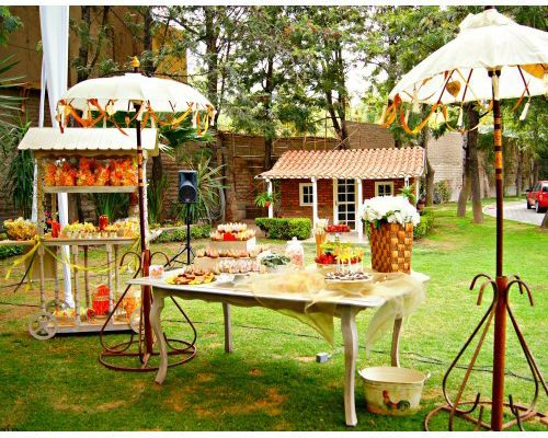 Rustic bodas weddings pinterest mesas ideas and for Arreglos de mesa para boda en jardin