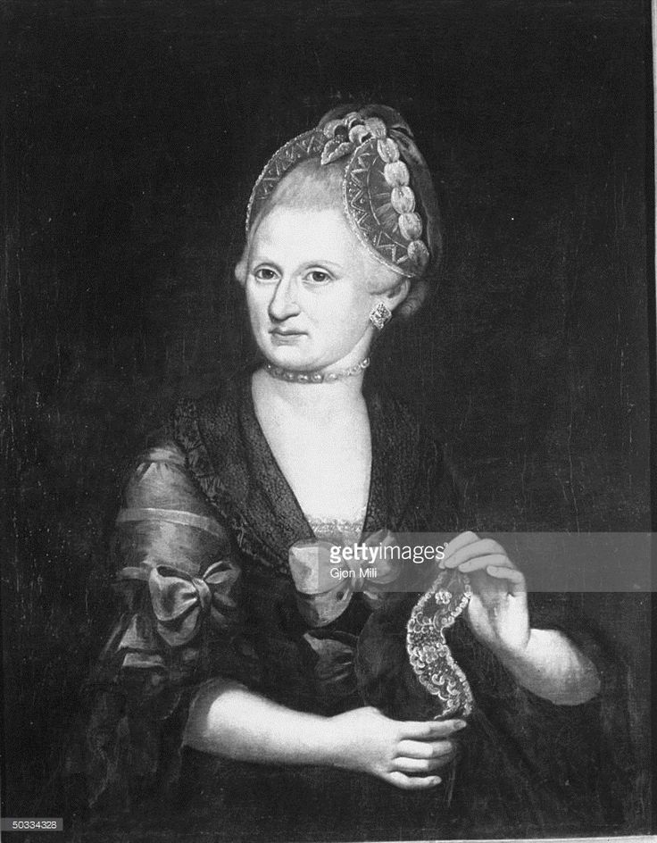 Portrait of Anna Maria Mozart, mother of wolfgang Amadeus Mozart by unknown artist.