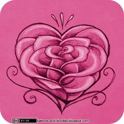 Heart Tattoos   Tattoos and doodles: Rose heart