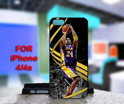 Kobe Bryant Lakers LA 24 For IPhone 4 or 4S Black Case Cover
