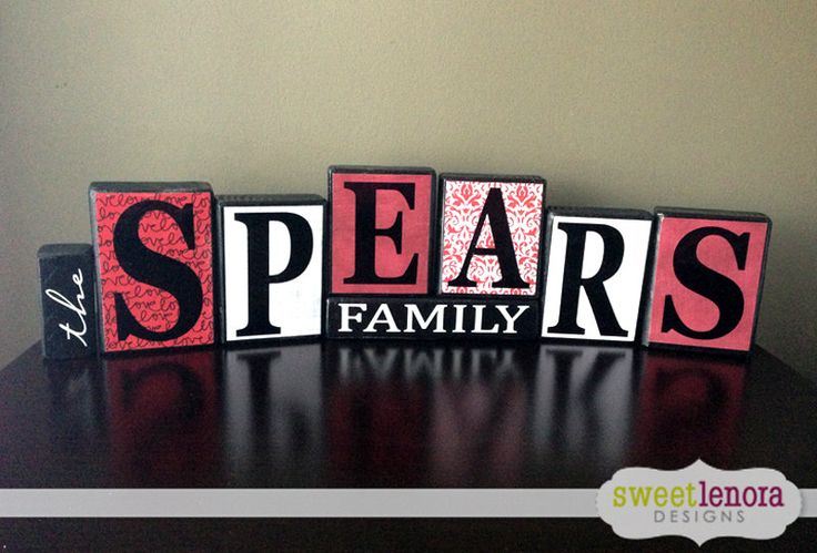 Something to have when every member of the family shares the same last name!