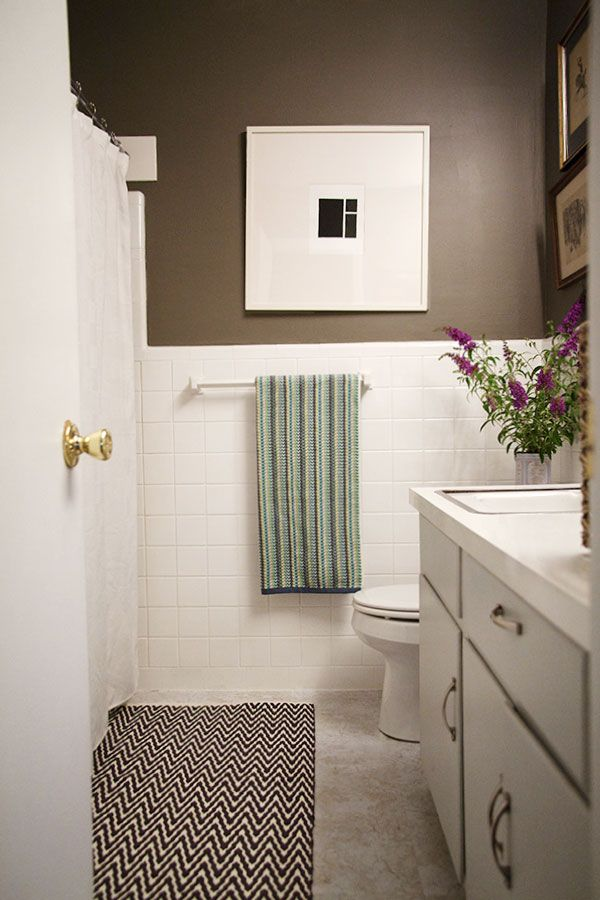 You can do a lot to upgrade your bathroom, even if you're a renter, without spending a lot of money. Click through to see how designer Ellie Somerville McNevin transformed her rental bathroom simply and easily... on The Home Depot Blog.