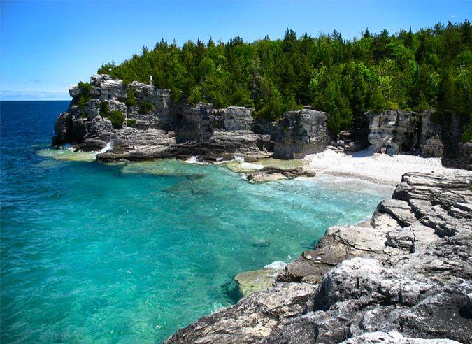 Yep - this is in Canada. Meet the Bruce Peninsula, ladies and gentlemen... #travel #beach #Canada