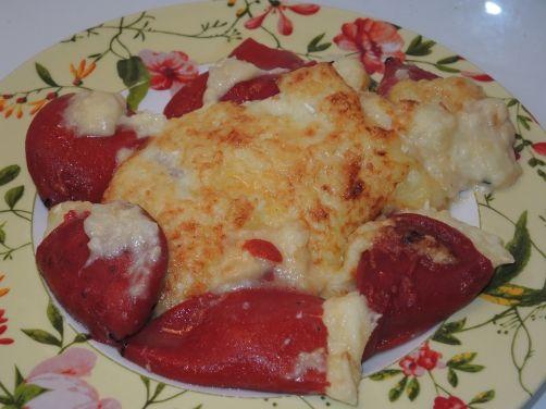 Pimientos del piquillo rellenos de brandada de bacalao para #Mycook http://www.mycook.es/receta/pimientos-del-piquillo-rellenos-de-brandada-de-bacalao/