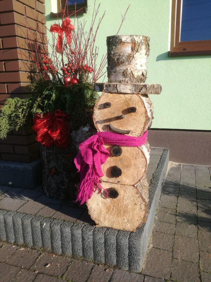 Bałwanek drewniany