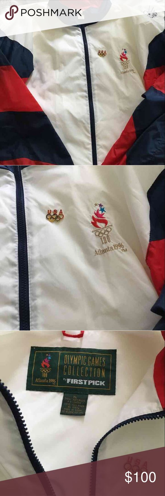 USA 1996 Olympic gym jacket Like new no rips or stains ! Vintage Jackets & Coats Windbreakers
