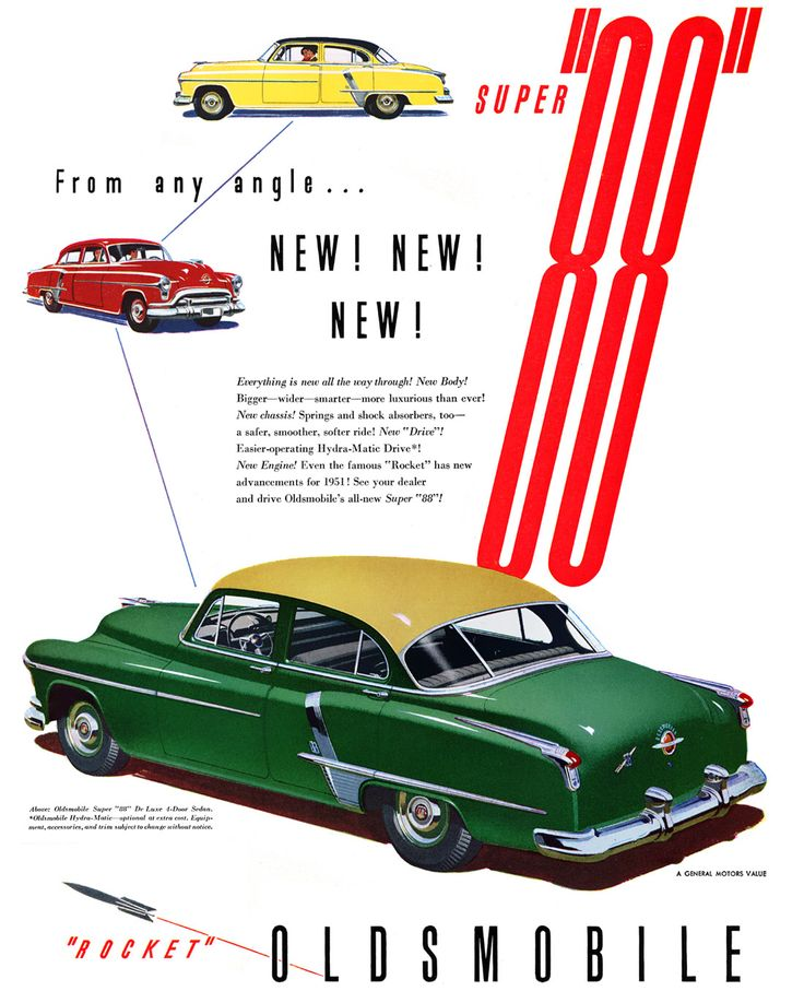 "1951 Oldsmobile ""88"" 4-Door Sedan advertisement"