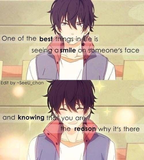 Anime : my little monster uma das melhores coisas na vida é ver um sorriso no rosto de alguém e saber que você é a razão pela qual ele está lá