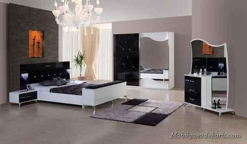 nice Siyah Yatak Odası Modelleri