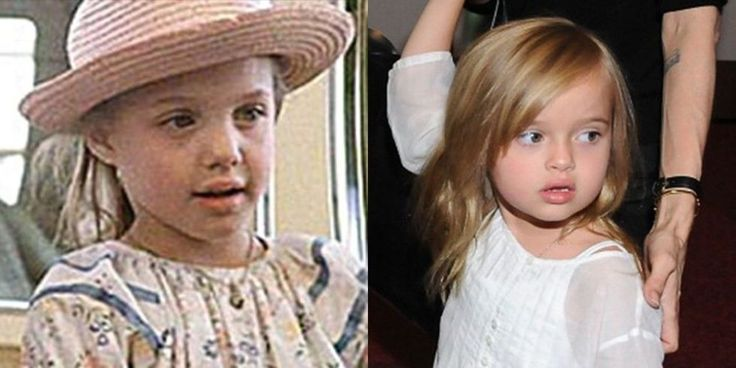 15 Celebrity Mothers and Daughters at the Same Age Angelina Jolie and Vivienne Marcheline Jolie-Pitt