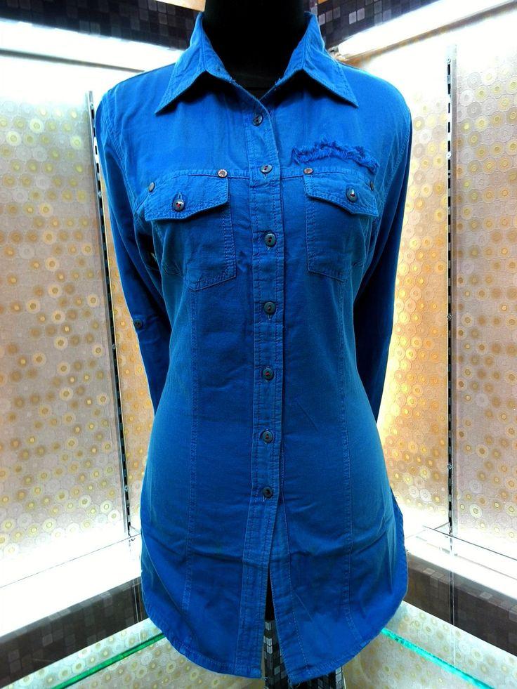 Kemeja Denim Wanita - Blue