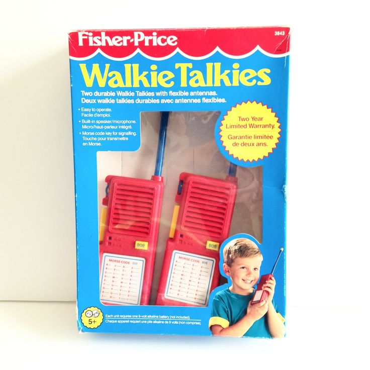Vintage Fisher Price Walkie Talkies by ThingsIBuyForYou on Etsy