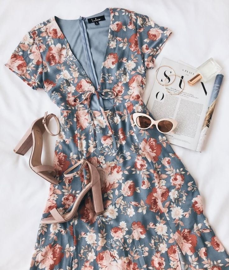 Best Day of My Life Light Blue Floral Print Midi Dress  #Blue #Day #Dress #Flora…