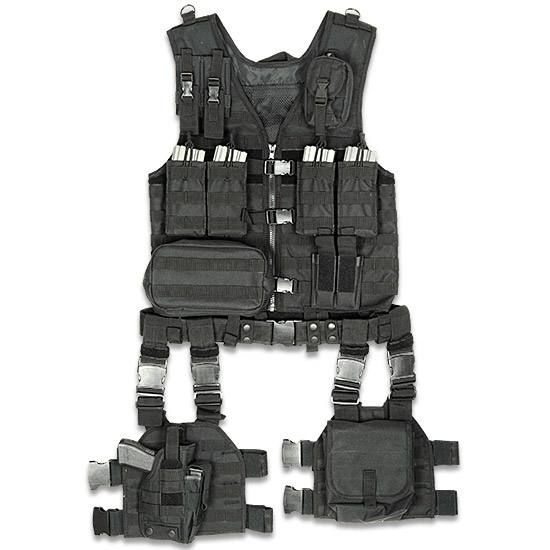 ModGear Complete Tactical Assault Gear UTG Black Full Strapping Zipper Quick Release Buckle Front