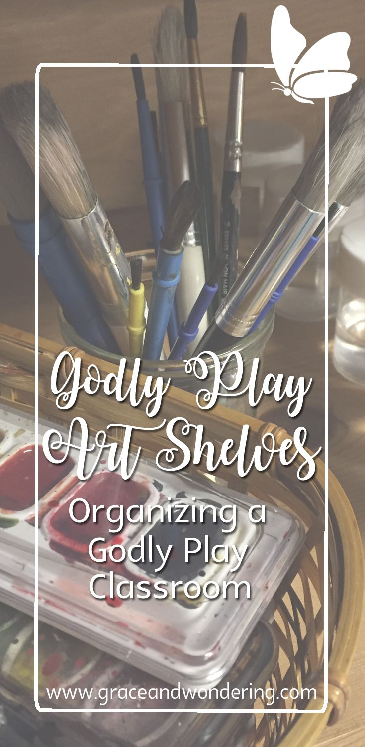 Organizing art materials in a Godly Play classroom. What I learned about how to offer art materials to children to support their worship response.