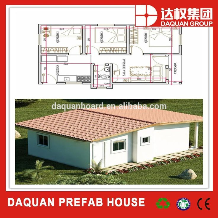 DAQUAN WUHAN 43.87 m2 fast build sound insulation fire and water proof one floor luxury Prefabricated House, View prefabricated concrete houses, DAQUAN- prefabricated house Product Details from Wuhan Daquan Energy Saving Board Co., Ltd. on Alibaba.com