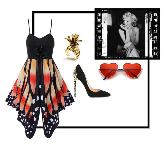 """""""Go"""" by monica-moyano ❤ liked on Polyvore featuring Cerasella Milano and Ann Taylor"""
