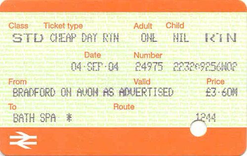 British Rail ticket.