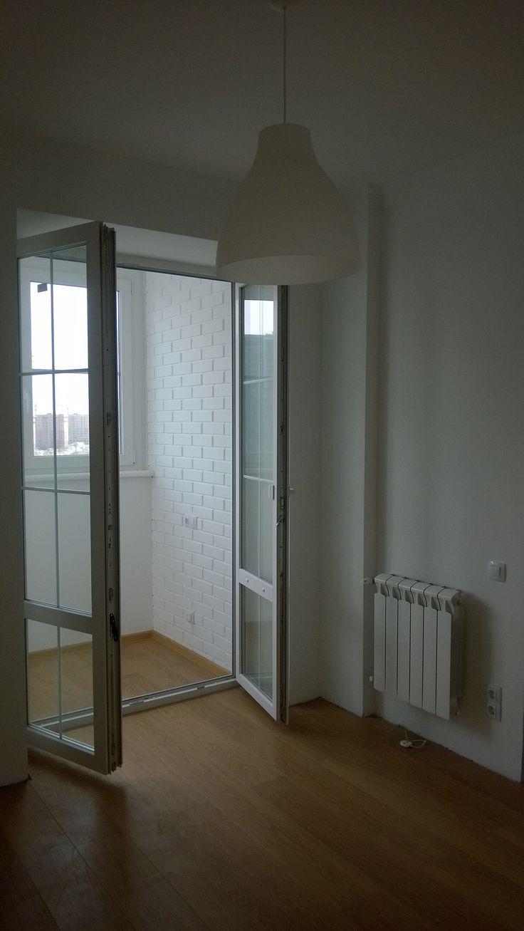 Распашные двери лоджия кухня