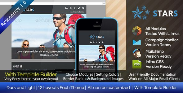 STARS - Responsive Email Template With Builder