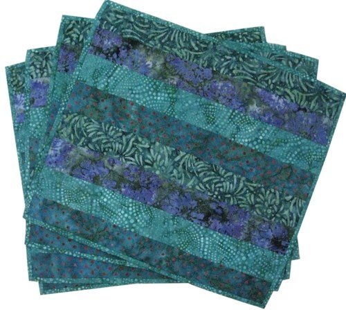 Placemats in Emerald Green Quilted