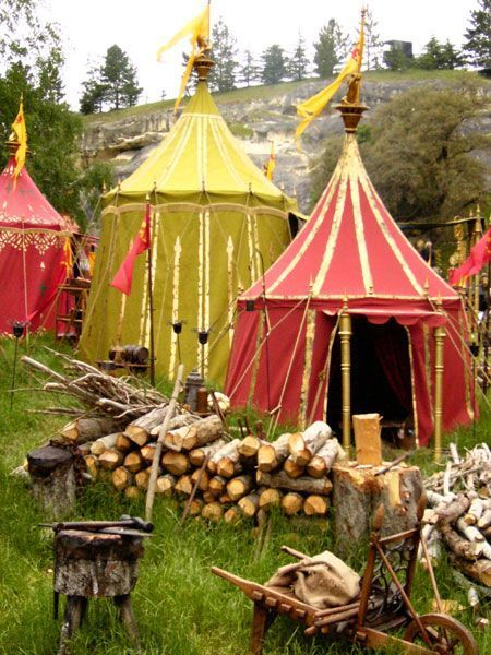 ...just a medieval tent, or two.